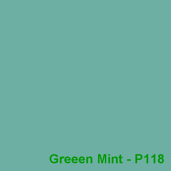 Dyed Colour - Green Mint P118
